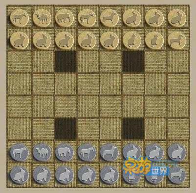 陆战棋棋盘画法_动物棋棋盘的画法可爱动物四连棋可爱卡通